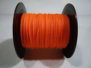 Trassierschnur  Maurerschnur 2 mm 100 m neon orange, Pflasterschnur Spann leine