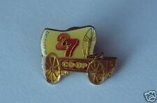 CFAC 2 & 7 TV Television Calgary Coop Stampede Chuckwagon 1990 Lapel Hat Pin