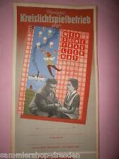 Wer seine Frau lieb hat DDR Filmplakat 1954 60x28 cm gerollt top movie poster