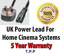 UK Mains cordon d'alimentation cordon câble pour home cinema systems LG Sony Samsung Cinemate