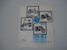 advertising Pubblicità 1970 ITALJET PIRANHA/TRIAL/VELOC