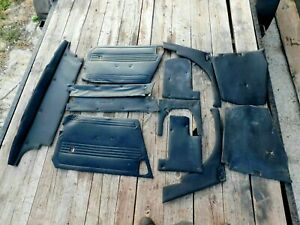 MG Midget, Sprite, Interior Panel Set, Black,  Original, !!