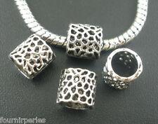 50 Perles FP intercalaires Maille de réseau Pr Bracelet Charms 8x8mm