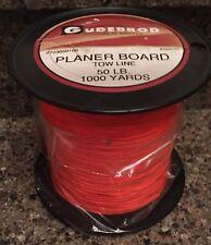GUDEBROD Planer Board Tow Line Fishing Trolling Braided Dacron 50 Lb 1000 Yd