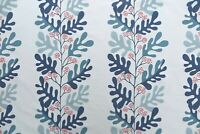 "SANDERSON CURTAIN FABRIC DESIGN  ""Malmo"" 2 METRES POWDER BLUE/PINK EMBROIDERED"