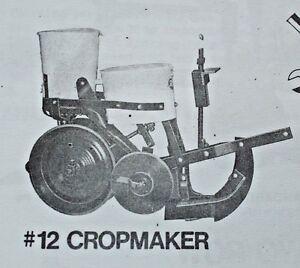 Cole Corn Pea Pumpkin Planter Fertilizer No 11 12 Owner's Manual & Parts List
