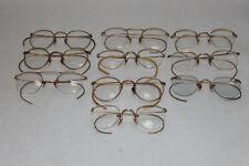 Lot of 10 Antique 1/10 12K Gold Filled Eyeglasses Ao Fulvue B&L Etc.
