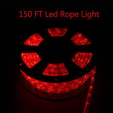 150FT LED Rope Light Red 110V Party Festival HomeStrip Lights Outdoor Xmas Light