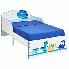 Dinosaur Kids Wooden Toddler Bed - 142 x 77 x 59cm, Themed Animal Beds