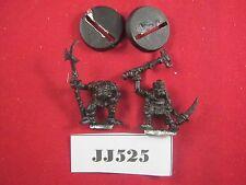 OOP WARHAMMER Orco sciamano di comando e rugluds corazzata Orc 1987 Metal ref jj525