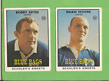 1968 SERIES 2 SCANLENS NEWTOWN   RUGBY LEAGUE TEAM CARDS, ALL 2 CARDS
