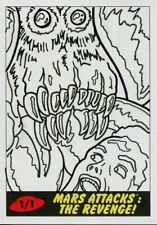 Mars Attacks The Revenge Sketch Card By Bryan Abston