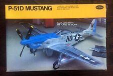 """* TESTORS 1/48 scale P-51D MUSTANG """"Aluminum Plating"""" model kit"""