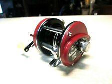 ABU GARCIA AMBASSADEUR FISHING REEL - `RED` 4000 - CLEAN & WORKS GOOD.