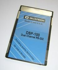 QUATECH PCMCIA Dual-Channel RS-232 Serial I/O PC Card DSP-100
