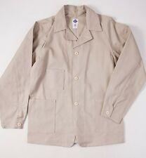 New $385 POST O'ALLS Beige Cotton Duck Canvas 'Carlos' Jacket M Overalls