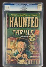 Haunted Thrills #8 CGC 1.8 - Ajax Farrell Comics 1953 - Golden Age Horror Scifi