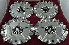 2 Crave Wheels Chrome Custom Wheel Center Caps Set of 4 # C002604CAP