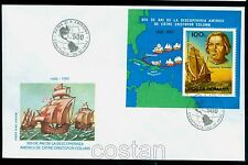 1992 Columbus,Colon,Discovery America,Ship,Salvador,Haiti,Map,Romania,Bl.277,FDC