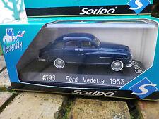 SOLIDO FRANCE 4593 FORD VEDETTE 1953 bleu, comme neuve en boite d'origine.