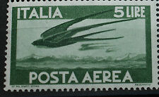1962 Repubblica Italiana Democratica Posta Aerea  5 Lire  singolo  MNH**