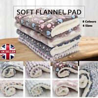 Pet Mat Paw Print Cat Puppy Dog Fleece Soft Warm Blanket Bed Mattress Cushion UK