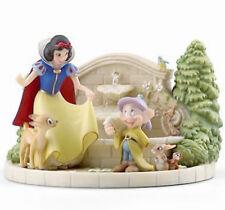 Lenox Disney Snow White's Charming Garden Fountain Figurine w/Dopey #868818 New