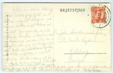 ICELAND: #137 on postcard to Sweden 1924, scarce franking.