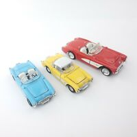 Lot of (3) Superior 1957 Corvette Chevrolet Vintage Die-Cast Model Cars 57 Vette