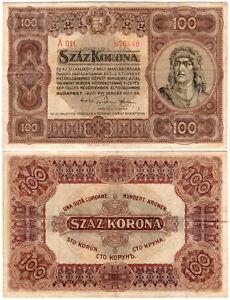 Hungary 100 Korona P#63 (1920) Pénzügyminisztérium VF