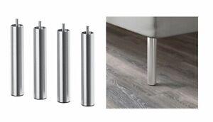 "Ikea BJORLI Leg, stainless steel-7 7/8 "" 4 Pack New 002.996.94"