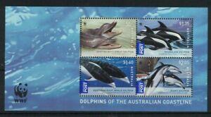 MAD488) Australia 2009 WWF / Dolphins Minisheet MUH