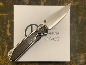 Chris Reeve Knives Large Sebenza 31 Bog Oak Satin S35vn LEFT HAND, DOUBLE LUG