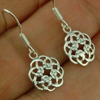 Stylish Pure Sterling Silver 925 Small Celtic Knot Plain Earrings
