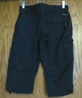 Columbia women's size 6 black titanium packable hiking capris soft waistband