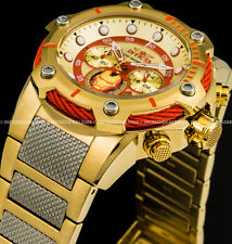 Invicta Marvel Iron Man Avengers Bolt Chronograph Red 18K Gold 51mm Watch 25781