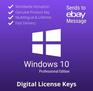 ✔️Windows10 Pro Key Professional License 32-64 bit Activation Genuine Key