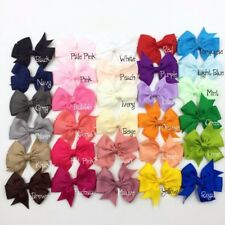"30pcs/lot 3.2"" Grosgrain Ribbon Hair Hair Bows Boutique NO CLIPS"