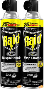 Raid Wasp and Hornet Killer Defense System 17.5 OZ 2 pack FREE SHIPPING