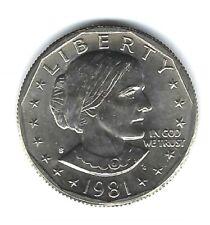 1981-S SBA $1 Brilliant Uncirculated Susan B. Anthony Dollar Coin!