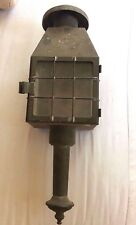 Vintage antique brass Gothic Tudor wall sconce porch lantern light fixture