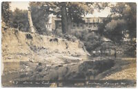 Real Photo Postcard Scene on Fishing River in Excelsior Springs, Missouri~104879