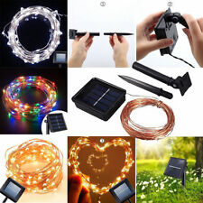 Solar LED String Lights Copper Wire Waterproof Outdoor Fairy LED Decor Garland