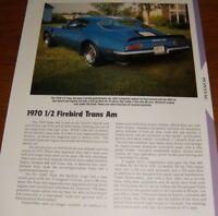 CT591 Cartech THE DEFINITIVE FIREBIRD /& TRANS AM GUIDE 1970 1//2-1981