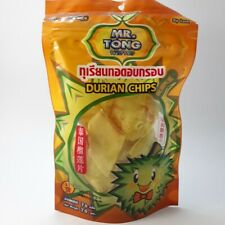 Thai Durian Chips Fruit Snack Delicious Natural Durian 100% Mr.Tong Brand 70 G