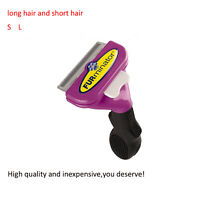 Cat Brush FUR minator Pet Deshedding Short or Long Hair Large small Tool for Cat
