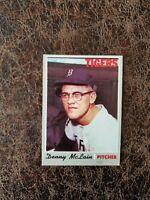 (1) 1970 Topps Baseball Denny McLain #400 - Detroit Tigers Legend