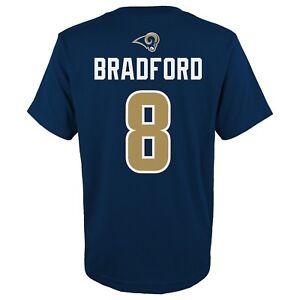 Sam Bradford NFL Los Angeles Rams Player Jersey T-Shirt Youth (XS-XL)