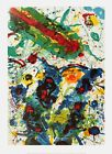 """SAM FRANCIS Untitled SF-341 54.25"""" x 37"""" Poster 2004 Modernism Multicolor,"""