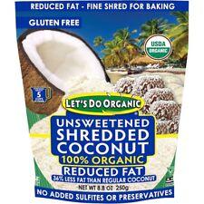 Edward & Sons, 100% Organic Unsweetened Shredded Coconut, Reduced Fat, 250g